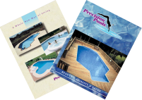 """Inground Pool Kits by Precision Pools """"New Way of Living"""" Brochure"""